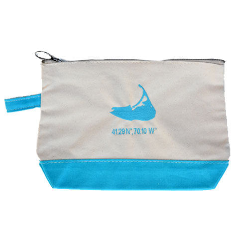 Island Make Up Bag in Turquoise