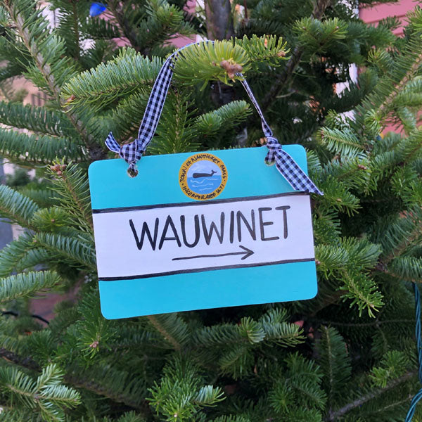 """Wauwinet"" Nantucket Street Sign Ornament"