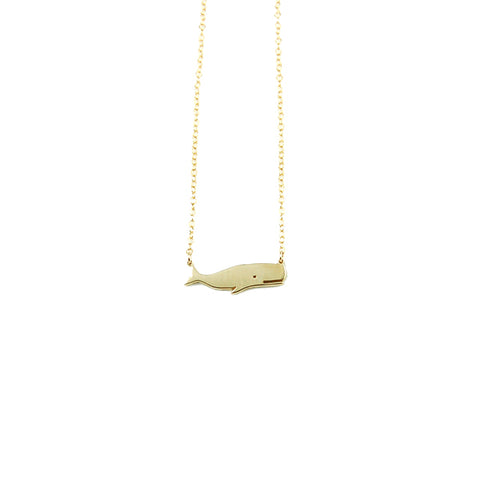 Small Whale Necklace in Gold by Skar Jewelry