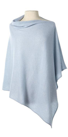 Cashmere Cape in Winter Blue