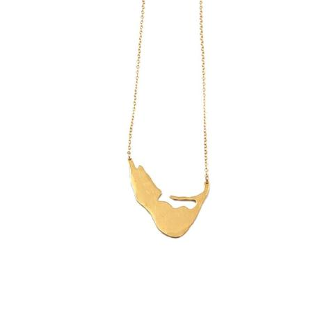 XL Island Swing Necklace in Gold
