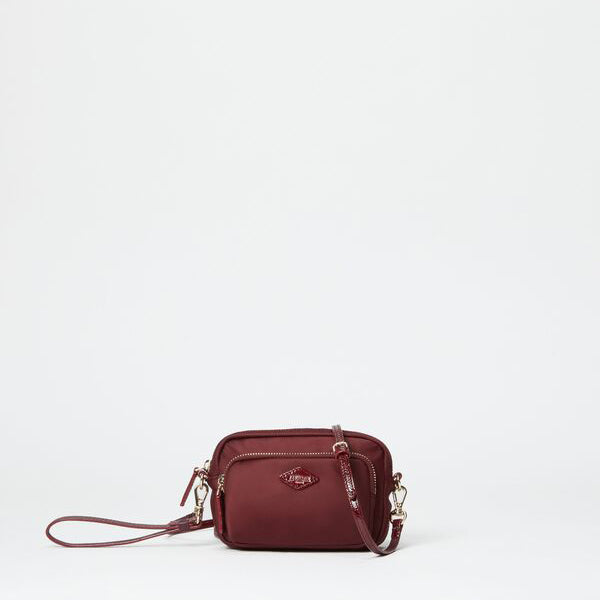 MZ Wallace Mini Gramercy Crossbody in Port