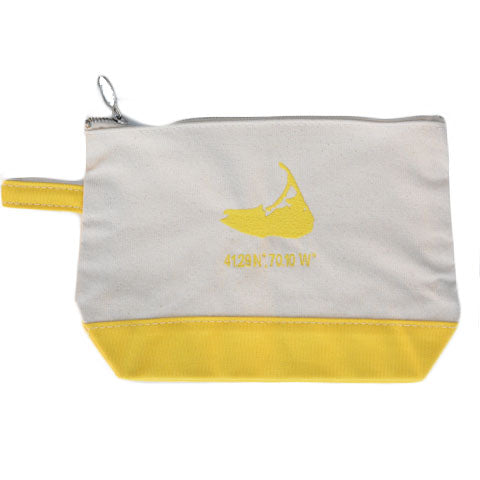 Island Make Up Bag in Yellow