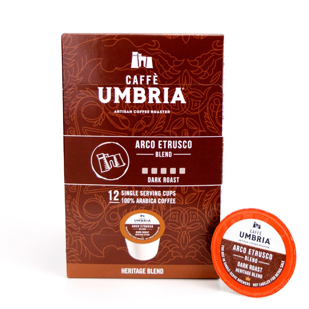 Combo Arco Etrusco Blend & Mezzanotte Decaf Blend - Box of (24) Single Serve K-Cup®
