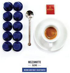 Mezzanotte Blend Single Serve Espresso Capsules - (20 capsules)