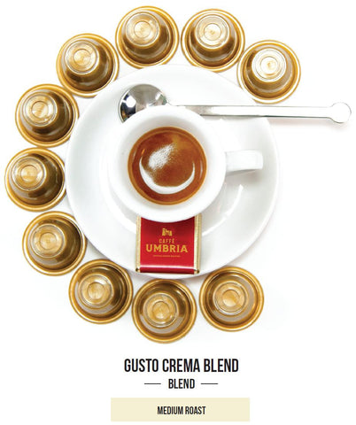 Gusto Crema Blend Single Serve Espresso Capsules - (20 capsules)