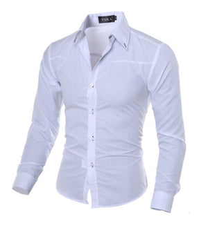 Mens Slim Fit Full Sleeve Shirt Casual Wear Formal Dress Party Shirts Top