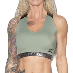 Valencia Eco Crop Top W0238 (olive)