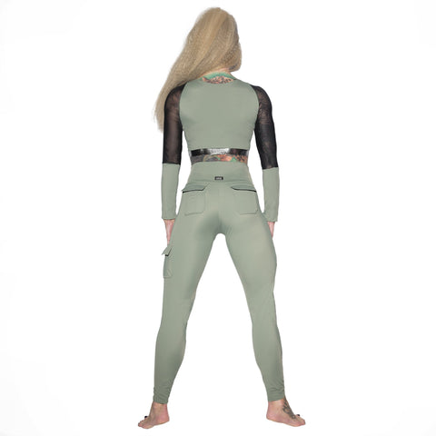 Valencia Eco Long Sleeve Top W0239 (olive)