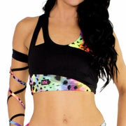 Rainbow Asymmetric Crop Top W0127