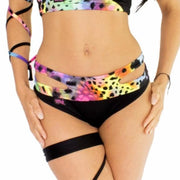 Rainbow Split Micro Shorts W0129