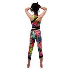 Rainbow Siren Print Cropped Leggings W0159