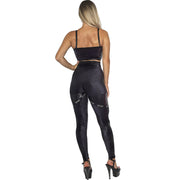 Infinity Eco High Waist Leggings W0231 (black snake)