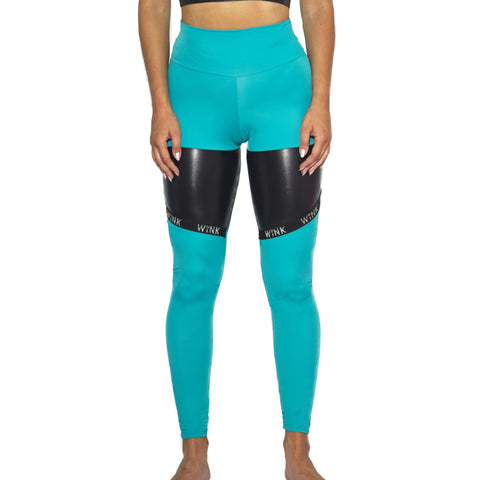 Infinity Eco High Waist Leggings W0231 (jade)