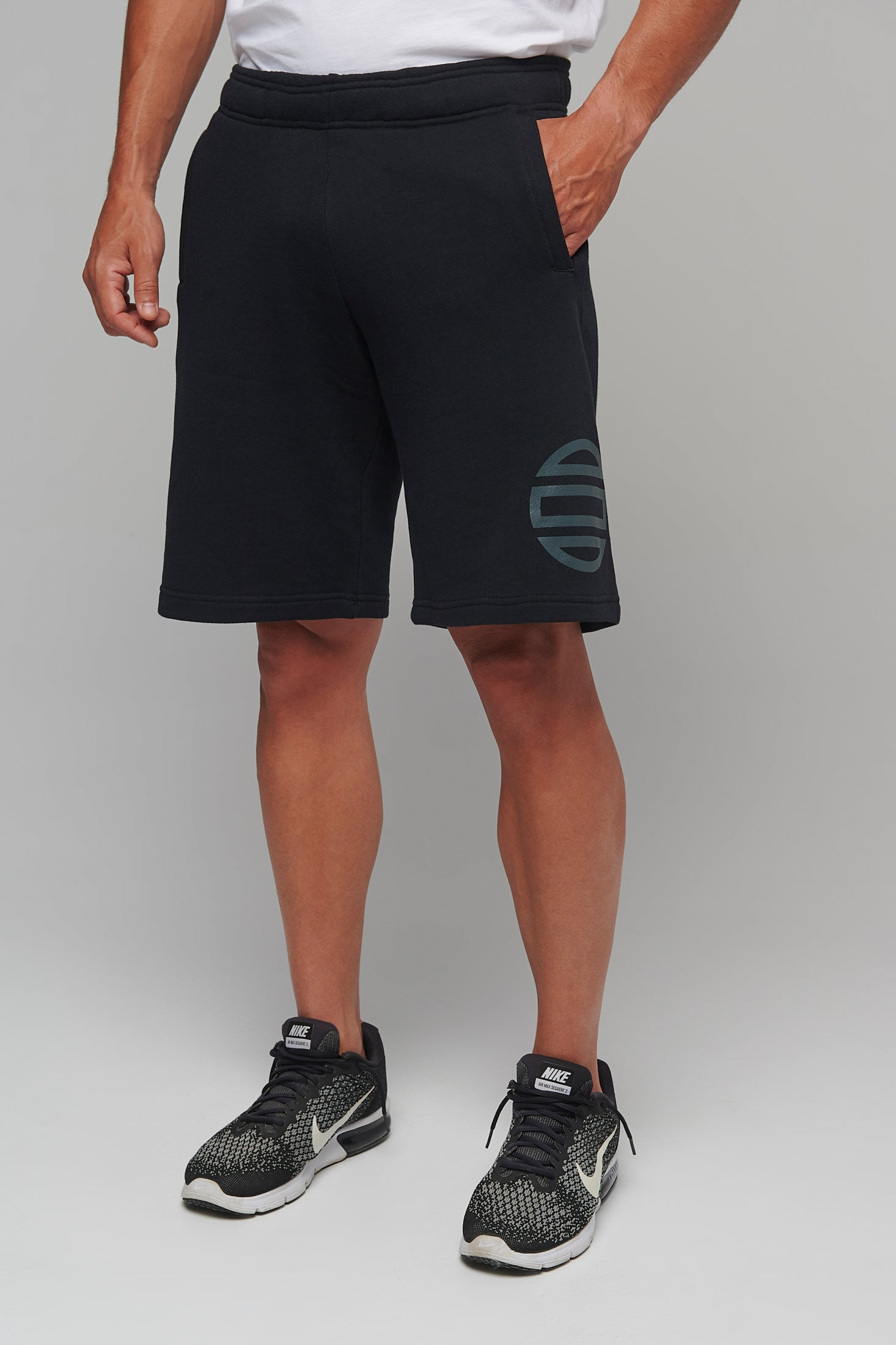 Men's Shorts Theta minimal Logo / Black