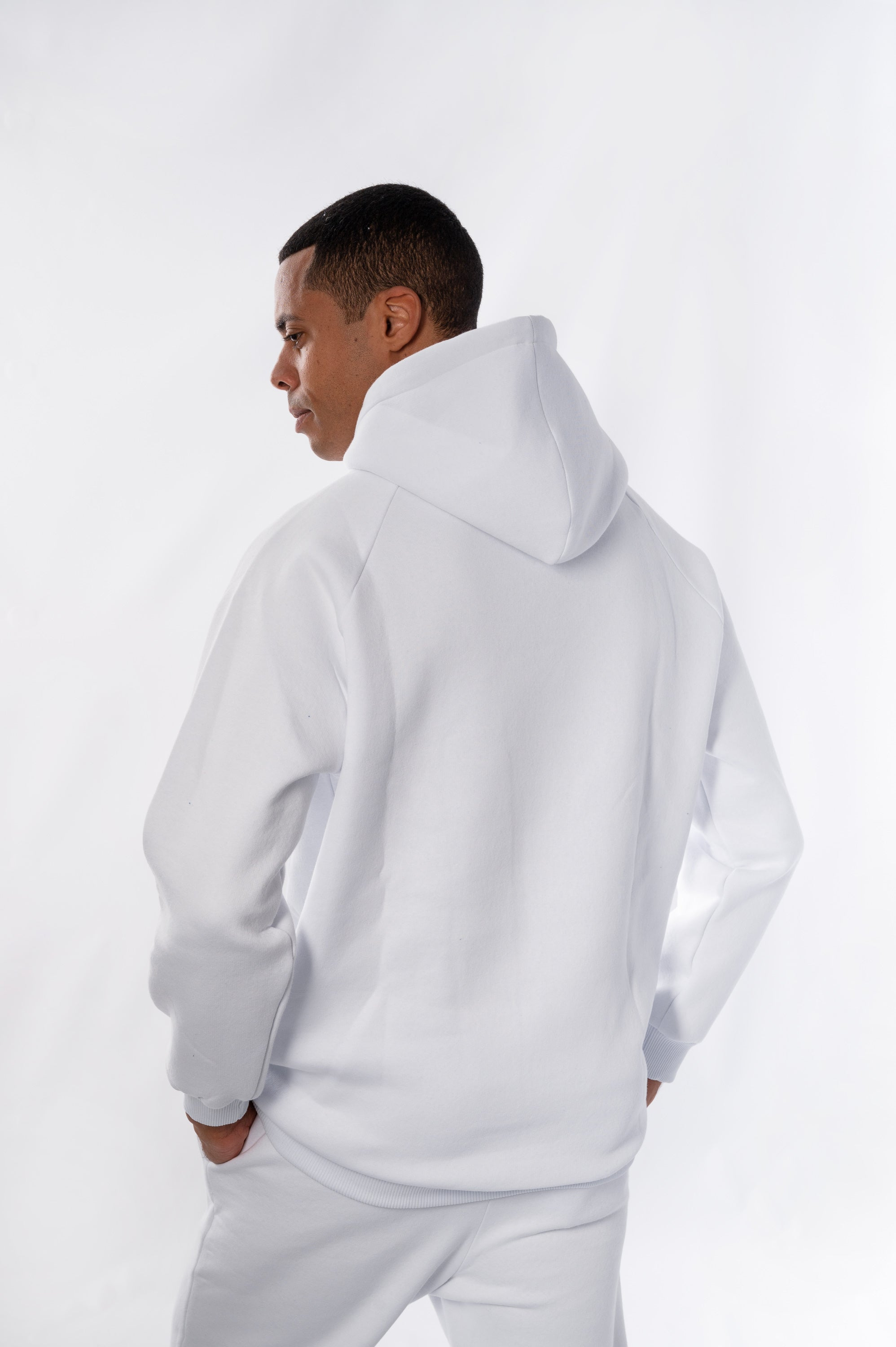 One Size White Hoodie