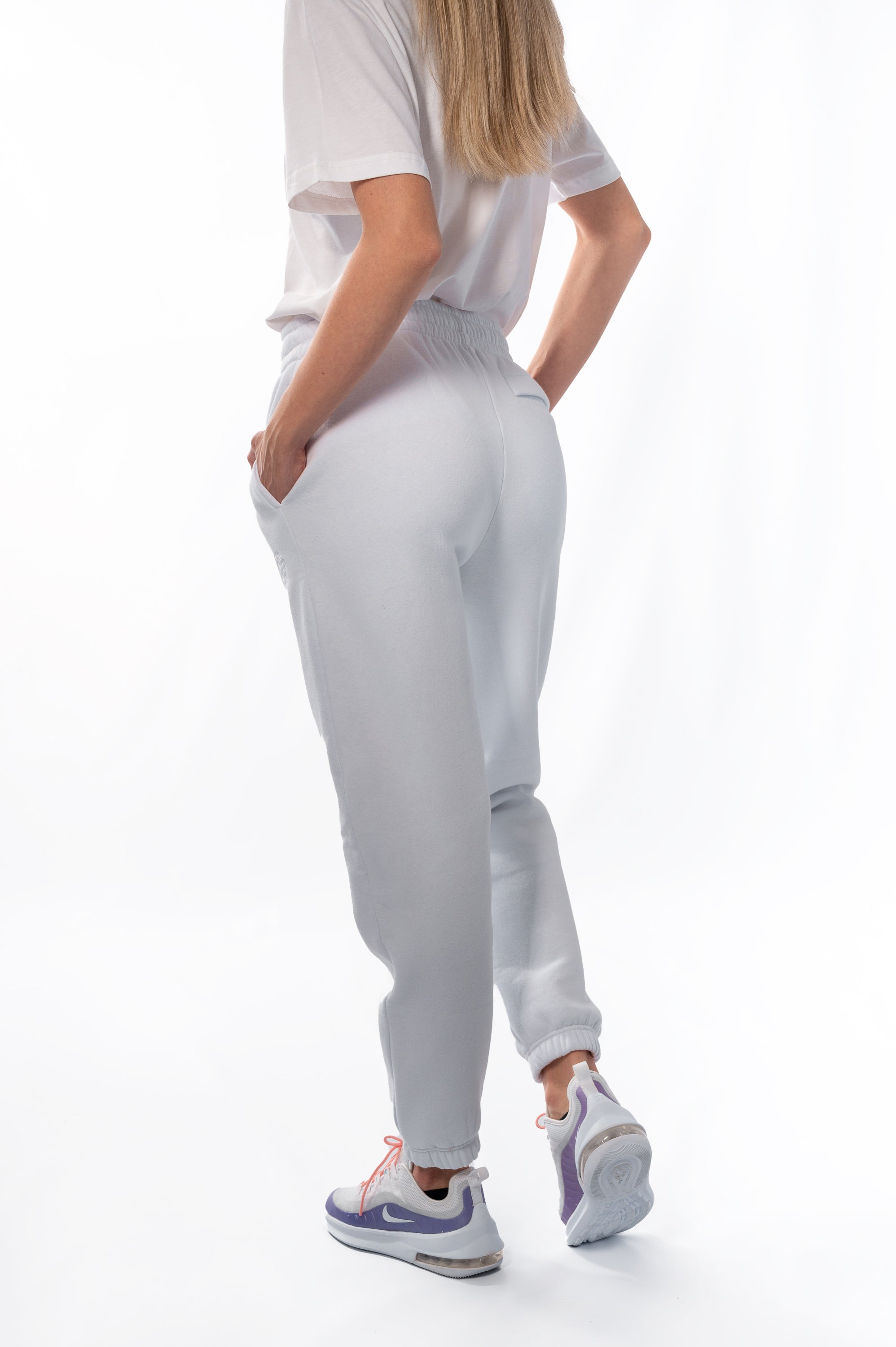 Unisex White Sweatpants