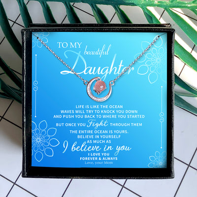 I BELIEVE IN YOU - CRYSTAL CLAVICLE NECKLACE FOR DAUGHTER