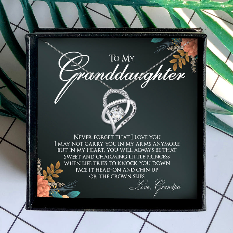 NEVER FORGET THAT I LOVE YOU - NECKLACE FOR GRANDDAUGHTER FROM GRANDPA