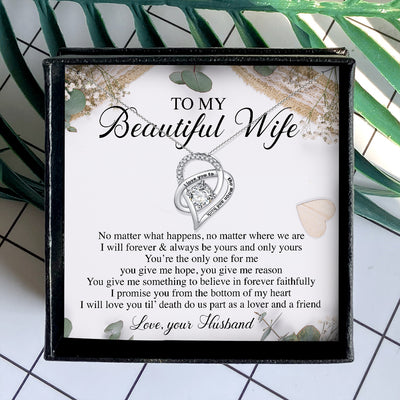 LOVE YOU TIL DEATH - NECKLACE FOR WIFE FROM HUSBAND