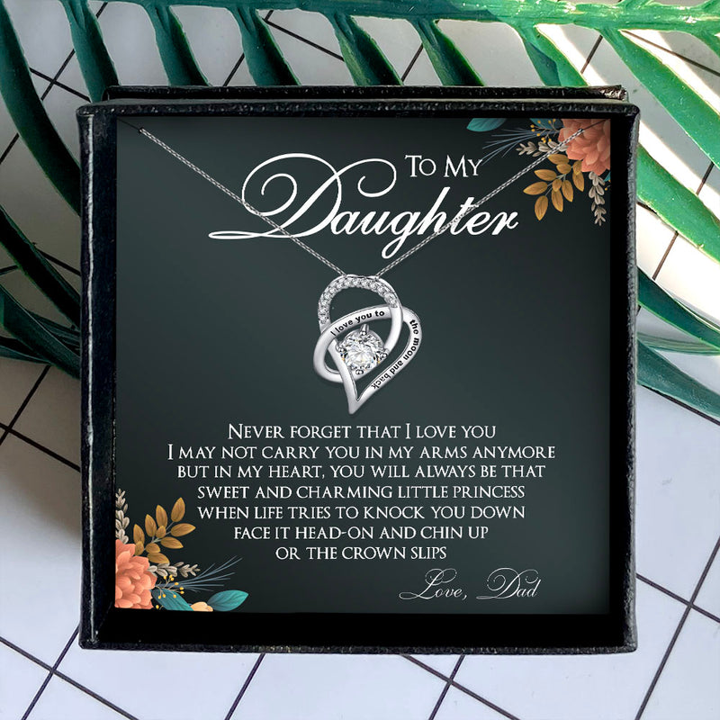 NEVER FORGET THAT I LOVE YOU - NECKLACE FOR DAUGHTER FROM DAD