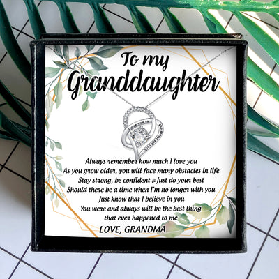 ALWAYS REMEMBER HOW MUCH I LOVE YOU - NECKLACE FOR GRANDDAUGHTER FROM GRANDMA