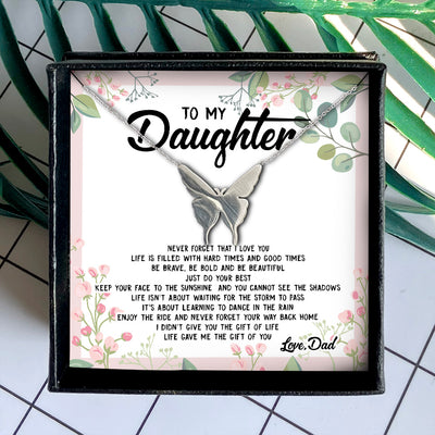 ENJOY THE RIDE AND NEVER FORGET YOUR WAY BACK HOME  - NECKLACE FOR DAUGHTER