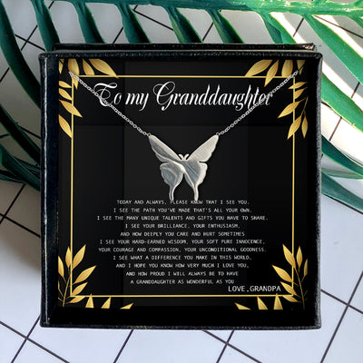 I HOPE YOU KNOW HOW VERY MUCH I LOVE YOU - NECKLACE FOR GRANDDAUGHTER