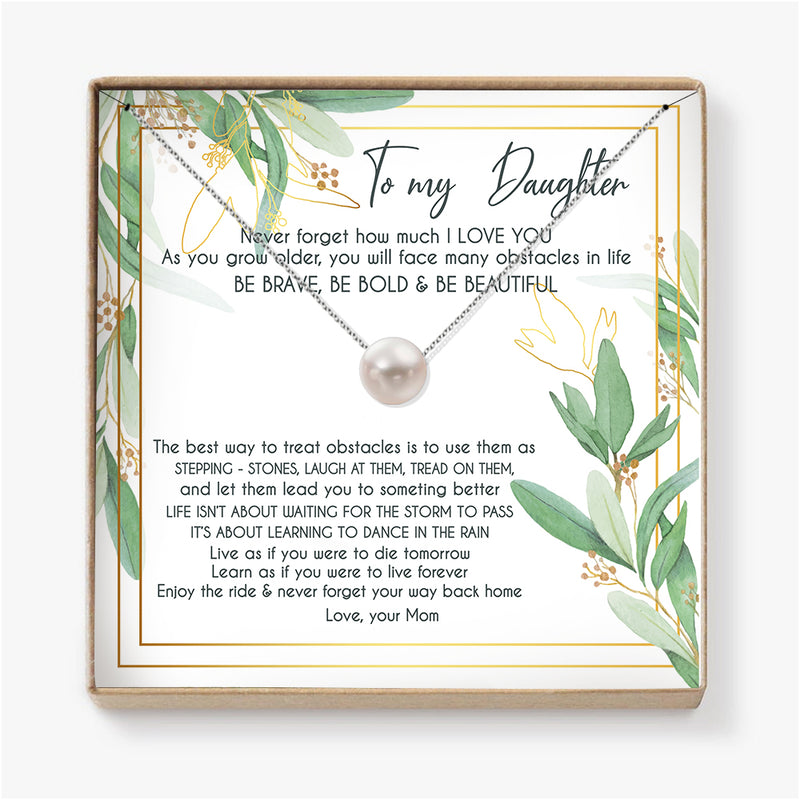 ENJOY THE RIDE & NEVER FORGET  YOUR WAY BACK HOME - NECKLACE FOR DAUGHTER FROM MOM