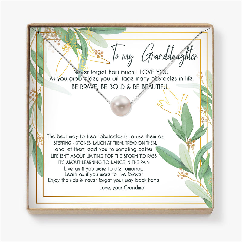 ENJOY THE RIDE & NEVER FORGET  YOUR WAY BACK HOME - NECKLACE FOR GRANDDAUGHTER FROM GRANDMA