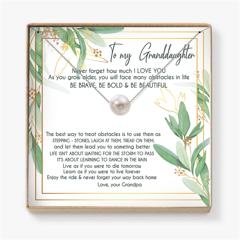 ENJOY THE RIDE & NEVER FORGET  YOUR WAY BACK HOME - NECKLACE FOR GRANDDAUGHTER FROM GRANDPA