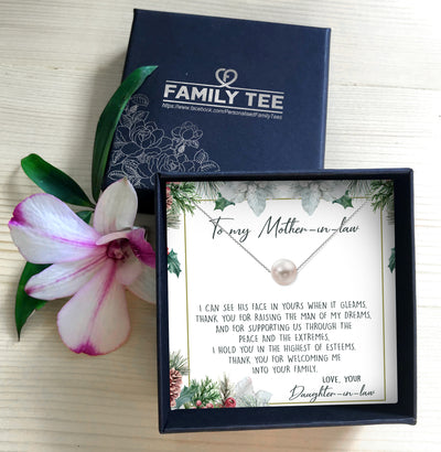 THANK YOU FOR WELCOMING ME INTO YOUR FAMILY - NECKLACE FOR MOTHER-IN-LAW FROM DAUGHTER-IN-LAW