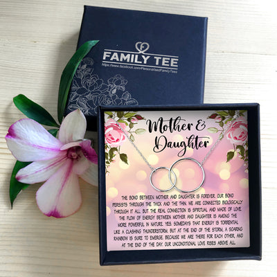 OUR BOND PERSISTS THROUGH THICK AND THIN  - NECKLACE FOR DAUGHTER AND MOTHER