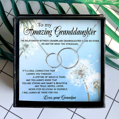 I WILL ALWAYS BE THERE FOR YOU  - NECKLACE FOR GRANDDAUGHTER