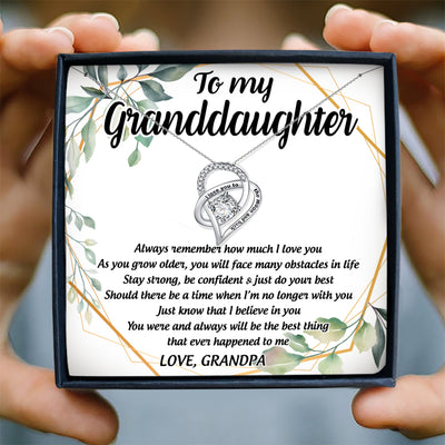 ALWAYS REMEMBER HOW MUCH I LOVE YOU - NECKLACE FOR GRANDDAUGHTER FROM GRANDPA
