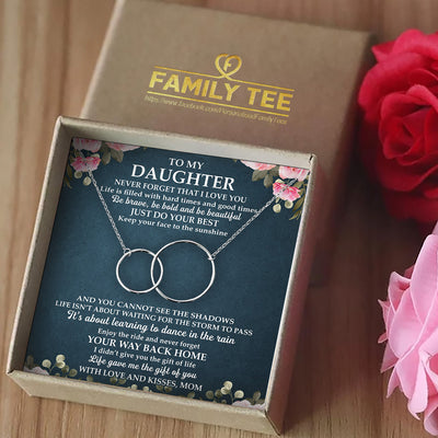 NEVER FORGET THAT I LOVE YOU - NECKLACE FOR DAUGHTER FROM MOM