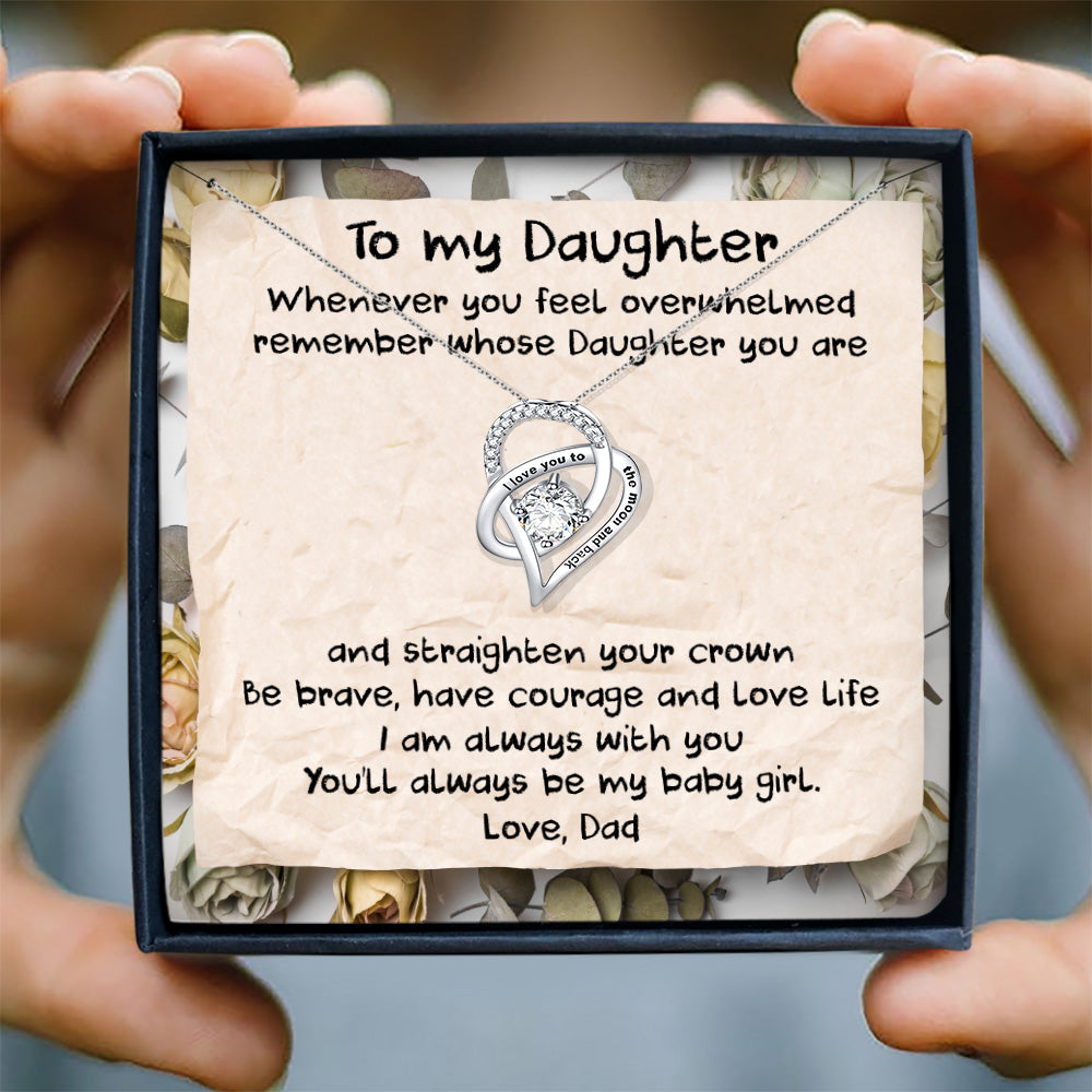YOU'LL ALWAYS BE MY BABY GIRL - NECKLACE FOR DAUGHTER FROM DAD