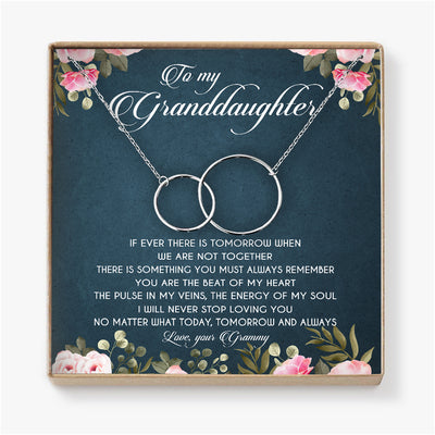 YOU ARE THE BEAT OF MY HEART  - NECKLACE FOR GRANDDAUGHTER FROM GRAMMY
