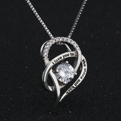 THANK YOU FOR LOVING ME UNCONDITIONALLY - NECKLACE FOR MOM FROM DAUGHTER