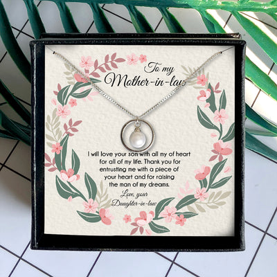 THANK YOU FOR ENTRUSTING ME - NECKLACE FOR MOTHER-IN-LAW
