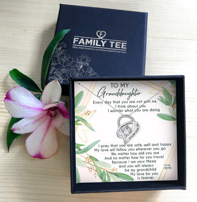 MY LOVE FOR YOU FOREVER - NECKLACE FOR GRANDDAUGHTER FROM MEME