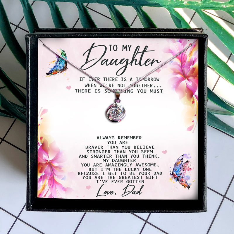 YOU ARE THE GREATEST GIFT  - NECKLACE FOR DAUGHTER FROM DAD