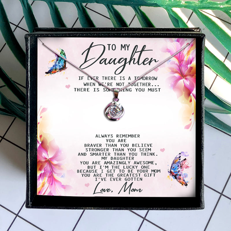 YOU ARE THE GREATEST GIFT  - NECKLACE FOR DAUGHTER FROM MOM