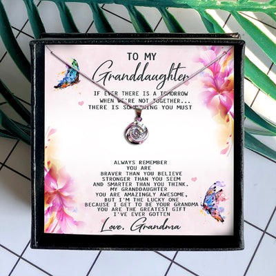 YOU ARE THE GREATEST GIFT  - NECKLACE FOR GRANDDAUGHTER FROM GRANDMA