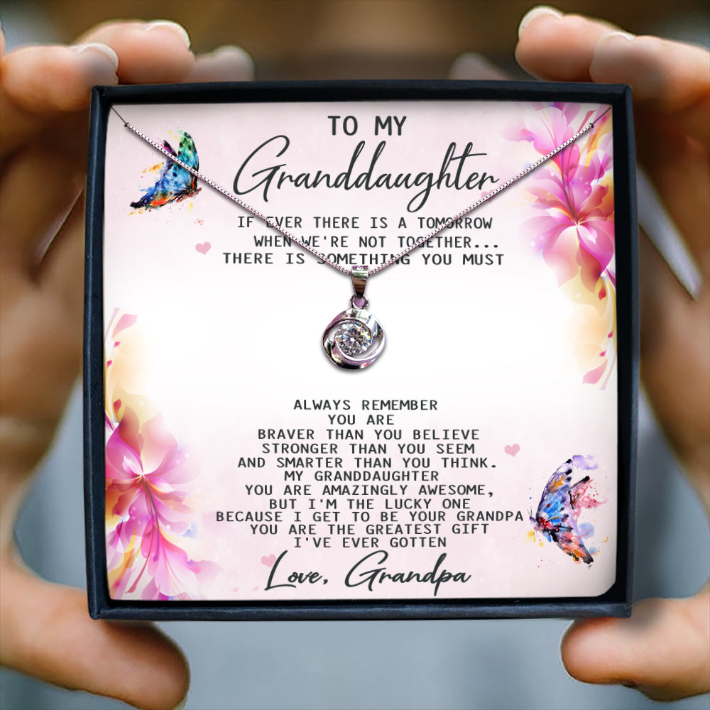 YOU ARE THE GREATEST GIFT  - NECKLACE FOR GRANDDAUGHTER FROM GRANDPA