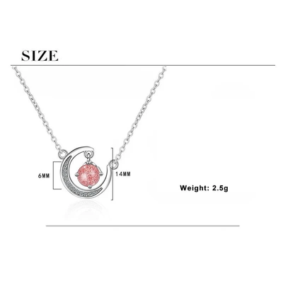 I LOVE YOU TO THE MOON AND BACK - CRYSTAL CLAVICLE NECKLACE FOR GIRLFRIEND