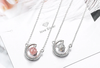 I LOVE YOU TO THE MOON AND BACK - CRYSTAL CLAVICLE NECKLACE FOR WIFE
