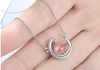 I LOVE YOU MORE THAN ANYTHING IN THE WORLD - CRYSTAL CLAVICLE NECKLACE FOR GRANDDAUGHTER
