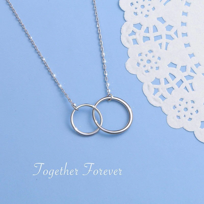 WE MAY BE APART TODAY  - NECKLACE FOR MOTHER AND DAUGHTER