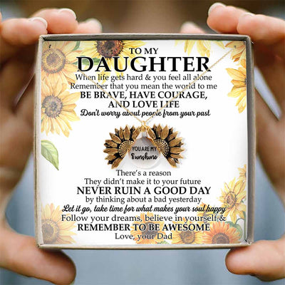 DON'T WORRY ABOUT PEOPLE FROM YOUR PAST - NECKLACE FOR DAUGHTER